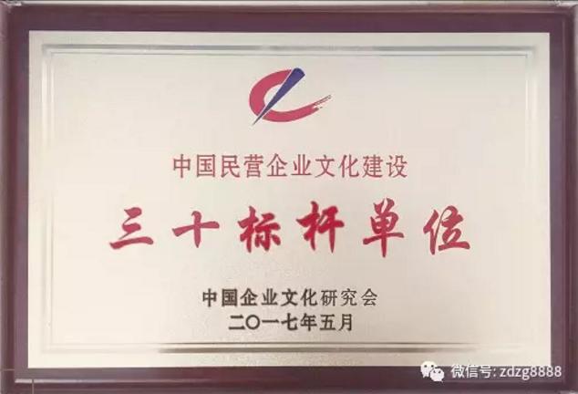 """正大制管荣膺中国民营企业文化建设""""三十标杆企业""""荣誉称号"""
