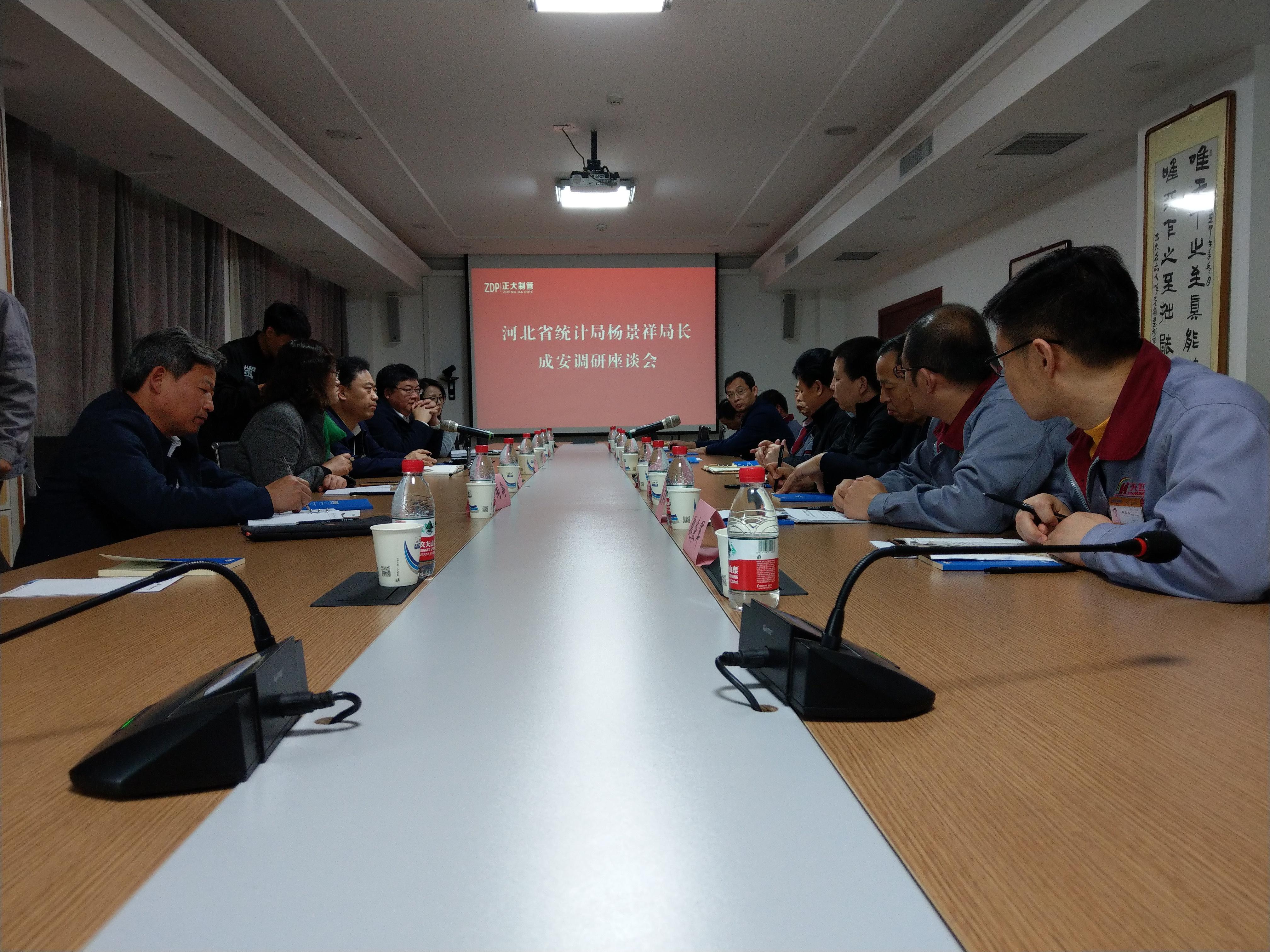 河北省统计局局长杨景祥一行到我公司调研