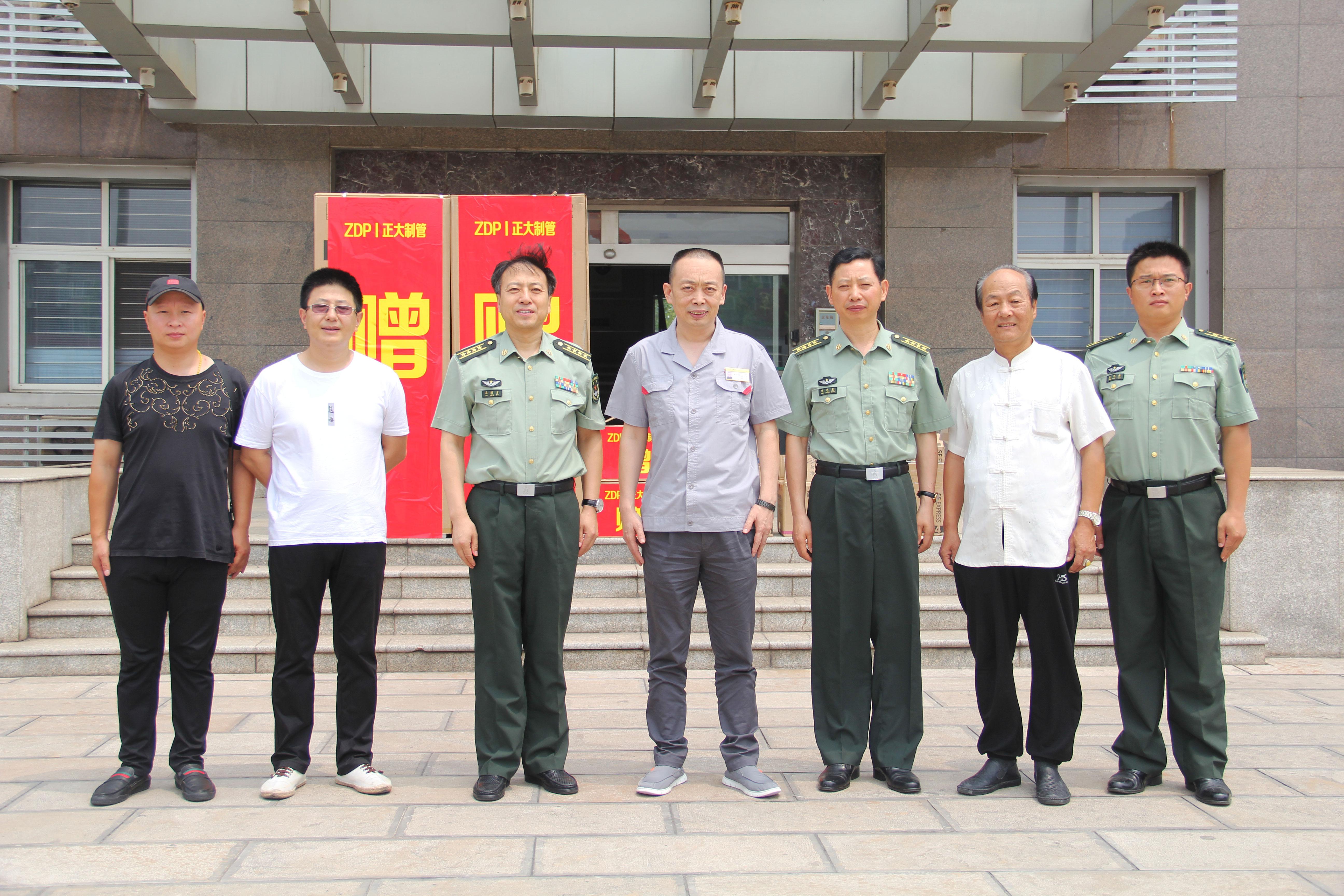 万博平台app下载万博手机版的总裁张洪顺走访慰问驻地部队